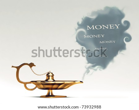 This is Aladdin's lamp. - stock photo