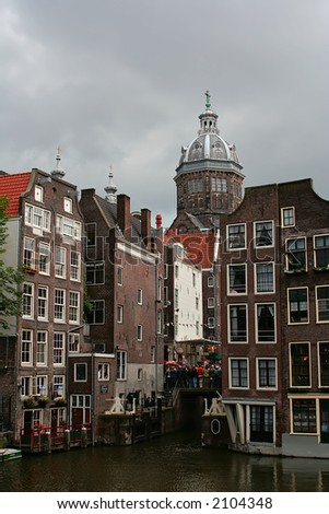 This is Amsterdam architecture. - stock photo