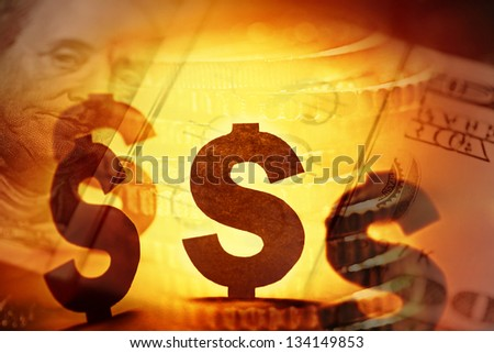 This is dollars. Finance concept. - stock photo
