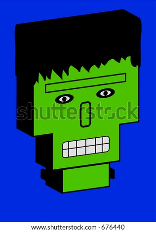 This is Frankenstein in 3D. - stock photo