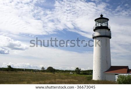 This is HighLand Light House Truro Massachusetts - stock photo