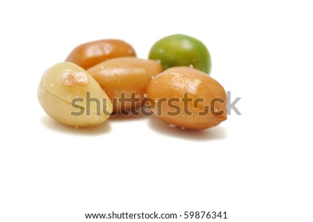 This is Peanuts in the Marco shot. - stock photo
