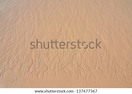 This is sand on the beach of Thailand, it like art of Thailand - stock photo