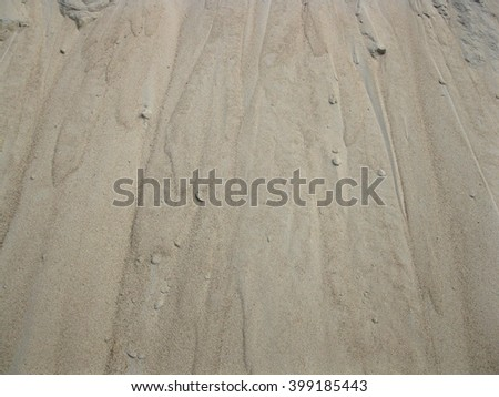 This is surface of   sand heap - stock photo