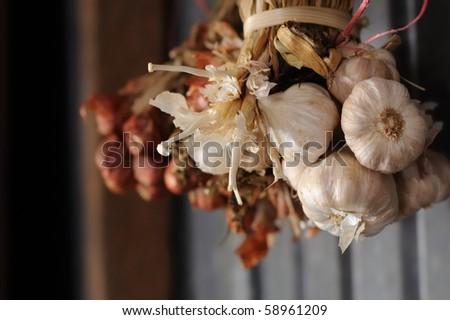 This is Thai Garlic in kitchen - stock photo