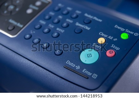 This is the command of the printer - stock photo