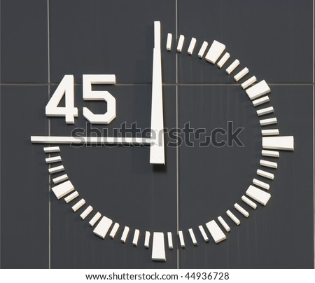 This is the type of clock that is found at a race track for athletes. - stock photo