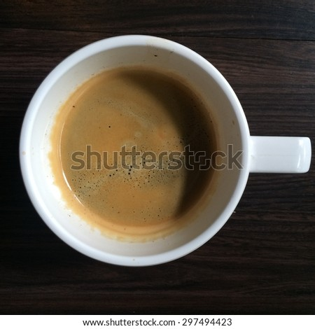 This is top view of espresso cup - stock photo