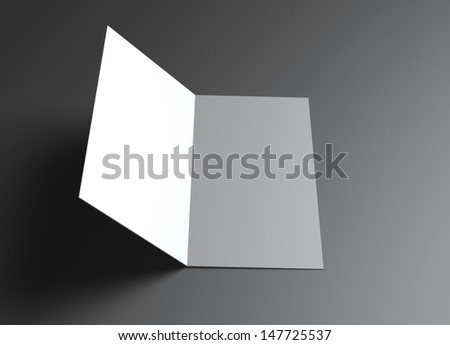 This leaflet presentation for promotion of Corporate identity. - stock photo