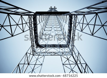This modern tower construction looks like futuristic monster - Transformer from cartoon stories - stock photo