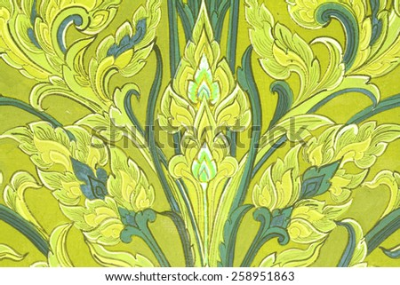 This oil painting in temple Thailand - stock photo