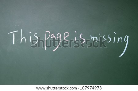 this page is missing symbol - stock photo