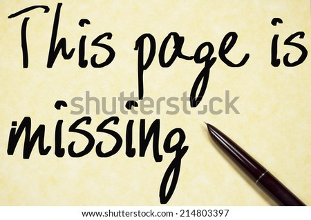 this page is missing text write on paper  - stock photo