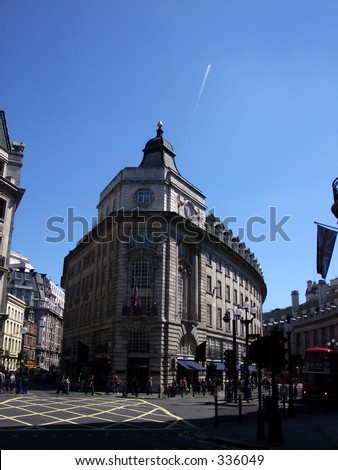 This Piccadilly Circus in London. - stock photo