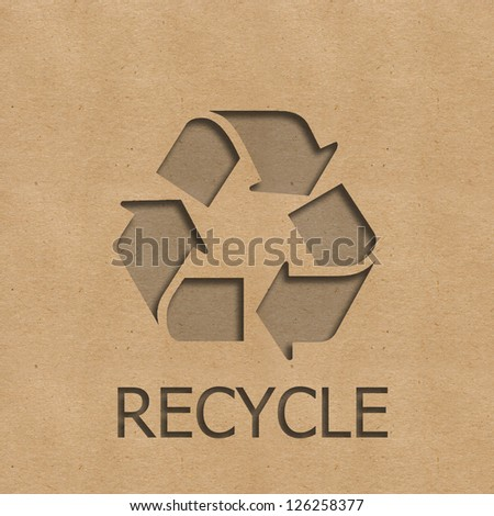 This picture is recycle paper - stock photo