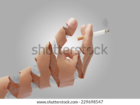 This picture show sign Non smoking Stop smoking. - stock photo
