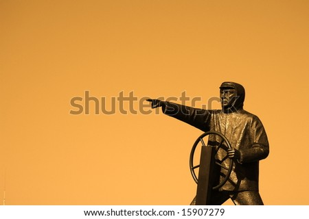this way - stock photo
