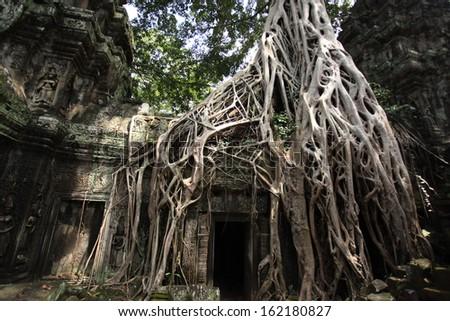 Thom City in Cambodia  - stock photo