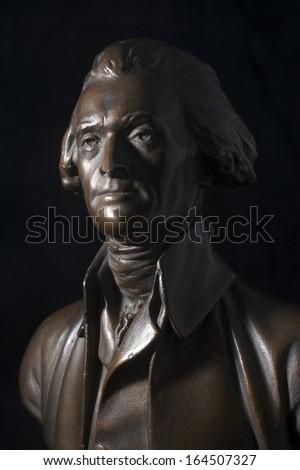 Thomas Jefferson Bronze Statue - stock photo