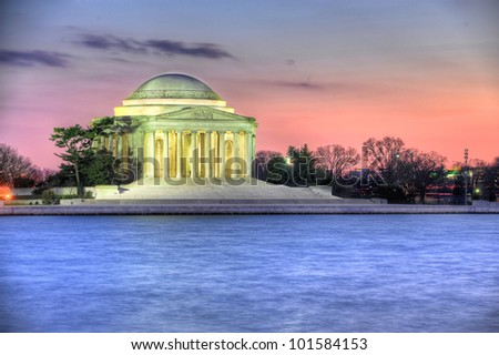 Thomas Jefferson Memorial, in Washington DC - stock photo