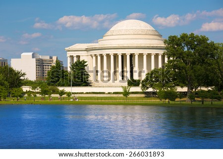 Thomas Jefferson memorial in Washington DC USA - stock photo
