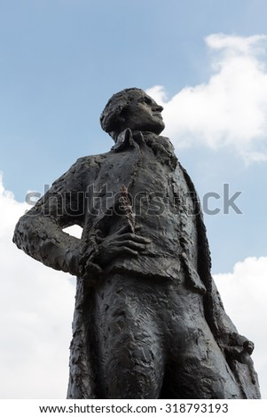 Thomas Jefferson statue  near Museum d'Orsay in Paris, France - stock photo