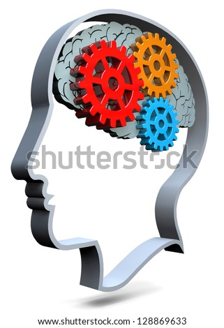 THOUGHT - 3D - stock photo