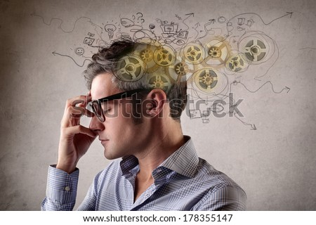 thoughts - stock photo