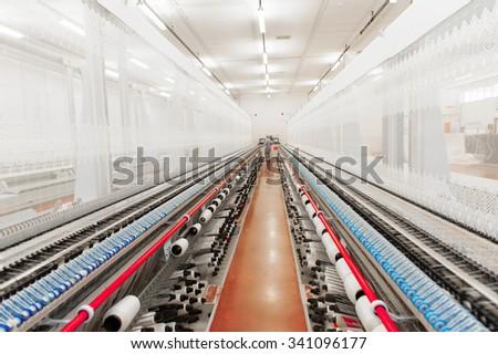 Thread Fabric Floor - stock photo