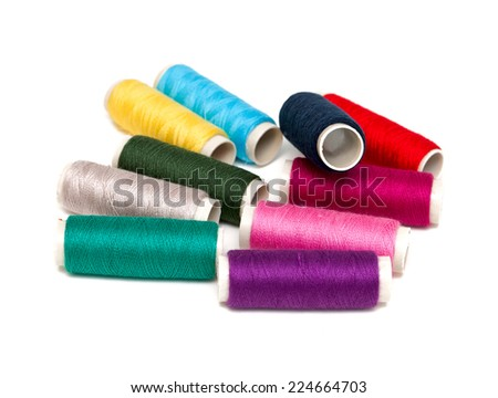 thread spools - stock photo