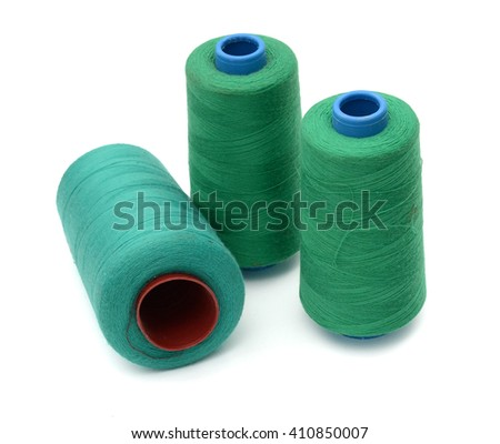 Threads. Isolated on white - stock photo
