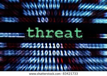 Threat concept - stock photo
