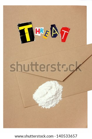 Threat Letter with Ricin - stock photo