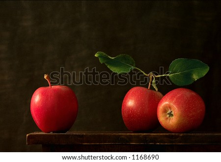 Three Apples - stock photo