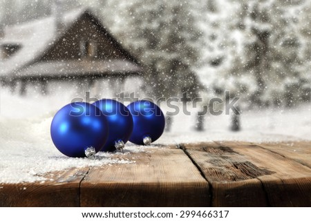 three blue balls  - stock photo