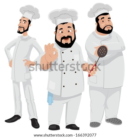 Three Chefs - stock photo