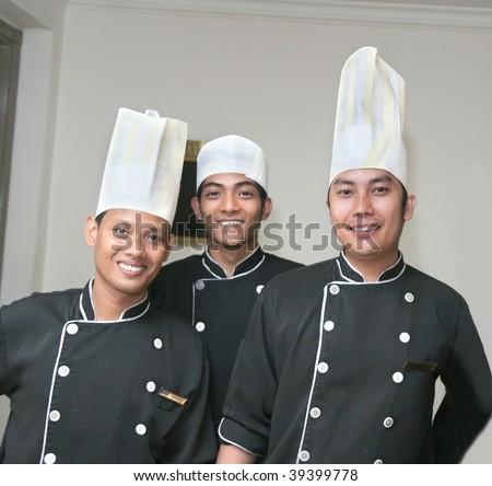three chefs - stock photo