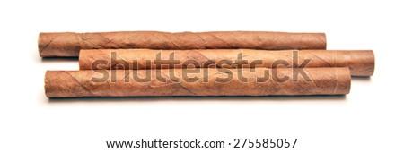 three cigarettes  - stock photo