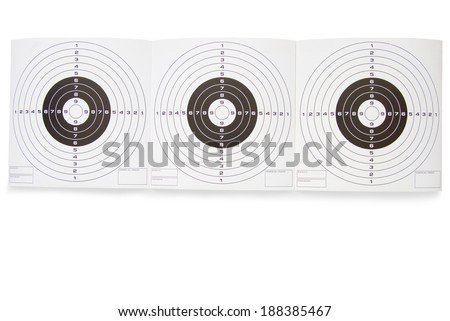 Three clean target on a white background - stock photo