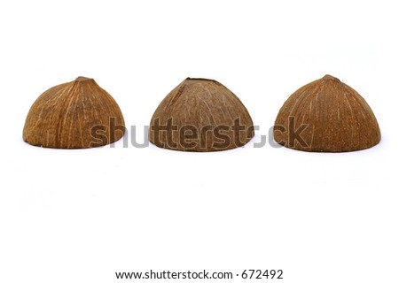 Three Coconut Shells - stock photo