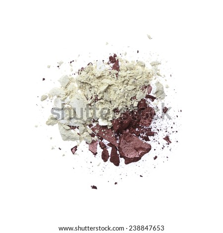 Three Colors Eyeshadow - stock photo