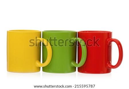 Three cups - stock photo