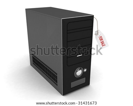 three dimensional cpu for purchase - stock photo
