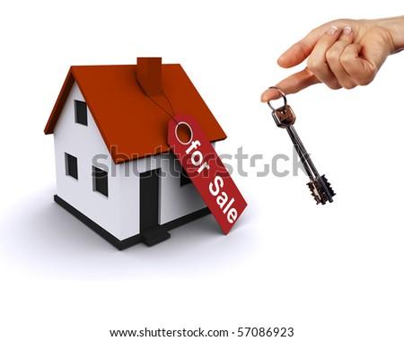 Three-dimensional house - stock photo