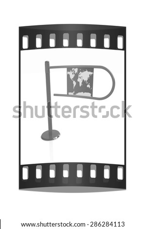 Three-dimensional image of the turnstile on a white background. The film strip - stock photo