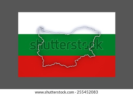 Three-dimensional map of Bulgaria. 3d - stock photo