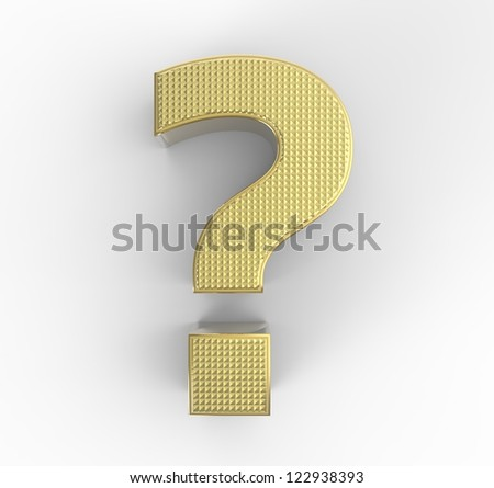 Three dimensional question mark punctuation - stock photo