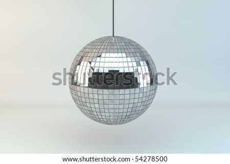 Three dimensional rendered Discoball - stock photo