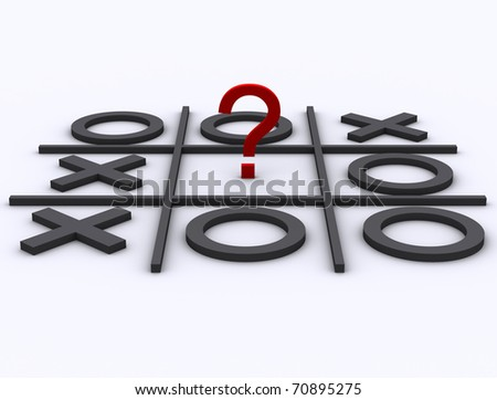 Three dimensional shape who win the game - stock photo