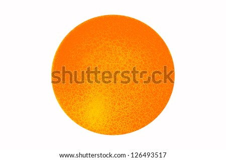 Three Dimensional Sphere with Fine Cracks Abstract Pattern and Colorful Light - stock photo